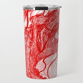 Jellyfish (Red on White Variant) Travel Mug