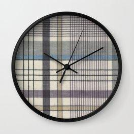 Linear Plaid Wall Clock