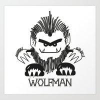 MONSTRZ - WOLFMAN Art Print