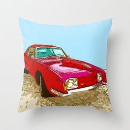 Vintage Car - Studebaker Avanti Throw Pillow