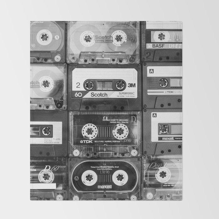 Something Nostalgic - black and white #decor #buyart #society6 Throw Blanket