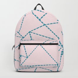 Ab Dotted Lines Blue on Pink Backpack