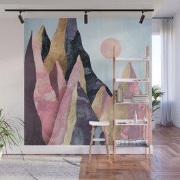 Mauve Peaks Wall Mural