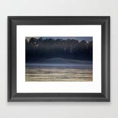 Misty Evening on the River Framed Art Print