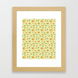 Orange Slice Framed Art Print