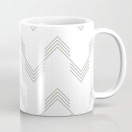 Simply Deconstructed Chevron Retro Gray on White Coffee Mug