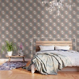 Rose Gold Gray Elephant Mandala Wallpaper