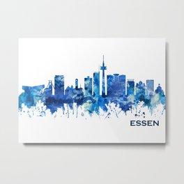 Essen Germany Skyline Blue Metal Print
