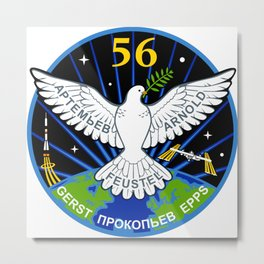 Expedition 56 Patch Metal Print