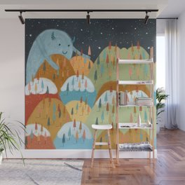 the rainbow forest Wall Mural