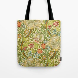 William Morris Golden Lily Vintage Pre-Raphaelite Floral Art Tote Bag