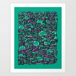 Eighty One Burgers Art Print