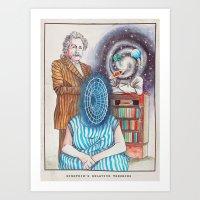 Einstein's Relative Theories Art Print