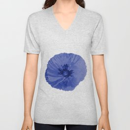 Blue poppy Unisex V-Neck
