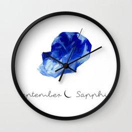 september sapphire Wall Clock