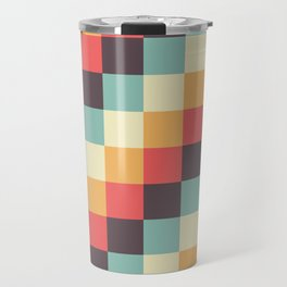 When dad was young - Pixel pattern in muted pastel colors Travel Mug
