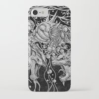 dragons iPhone & iPod Cases featuring Dragons by Walid Aziz
