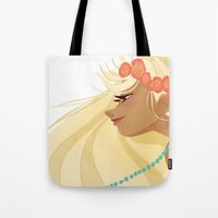 hippie Tote Bags featuring Hippie Hippie. by ca-chat