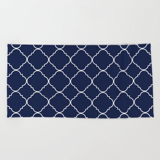 Indigo Navy Blue Moroccan Beach Towel