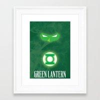 green lantern Framed Art Prints featuring Green Lantern by Gari Smith