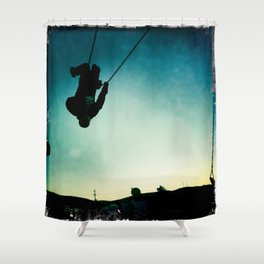Swinging Shower Curtain
