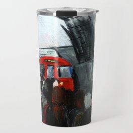 London Underground Part 3, England Acrylic On Canvas Board Fine Art Travel Mug