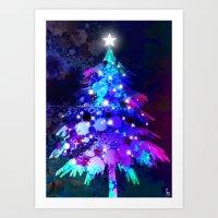 christmas tree Art Prints featuring Christmas Tree by tscreative