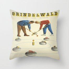 Vintage poster - Grindelwald Throw Pillow