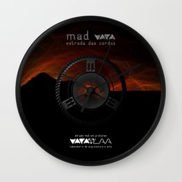 "Vaca - MP: ""Mad Vaca - Estrada das Cordas"" Wall Clock"