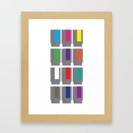 8-BIT Cartridges Framed Art Print