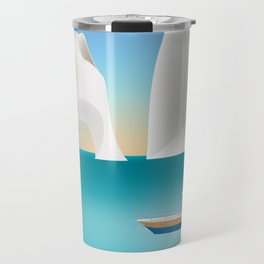 Capri, Italy- Skyline Illustration by Loose Petals Travel Mug