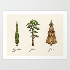 Fur Tree Art Print
