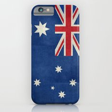 The National flag of Australia, retro textured version (authentic scale 1:2) iPhone 6s Slim Case