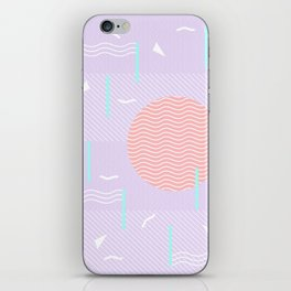 Memphis Summer Lavender Waves iPhone Skin