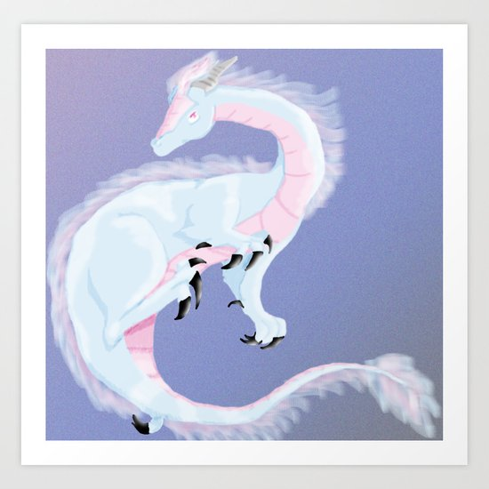 Pearl Dragon Art Print