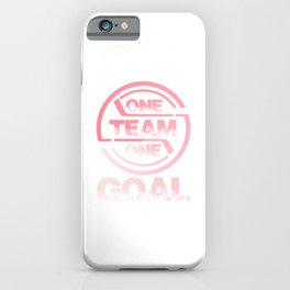 One Team One Goal pw iPhone Case
