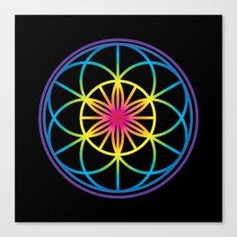 Sacred Symbols Rainbow Chakra Canvas Print