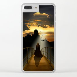 The monk Clear iPhone Case