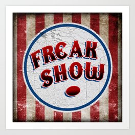 """FREAK SHOW"" Bullet Art Print"