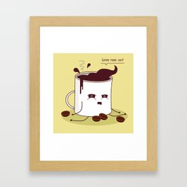 Coffee Mug Addicted To Coffee Framed Art Print