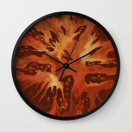 Vintage Illustration of a Sliced Tomato (1871) Wall Clock