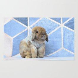 Bunny posing Rug