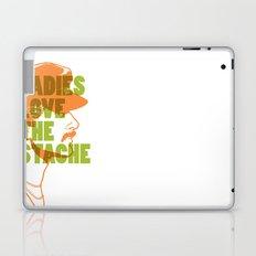 Ladies Love the Mustache Laptop & iPad Skin