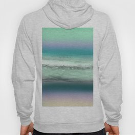 Twilight Sea in Shades of Green and Lavender Hoody