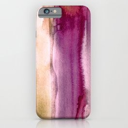 Watercolor Skin & Earth Tones, Calm and Soulful Home Goods Design iPhone Case