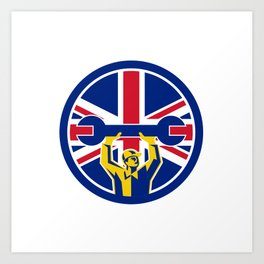 British Mechanic Union Jack Flag Icon Art Print