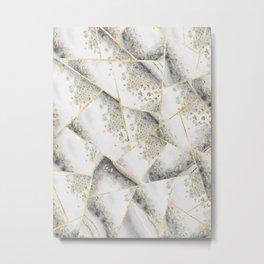 White Agate Gold Geometric Glam #1 #geo #gem #decor #art #society6 Metal Print