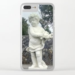 Garden  Cherub Clear iPhone Case