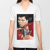 ali gulec V-neck T-shirts featuring ALI 4 by YBYG