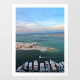 Harbor Sunrise Art Print